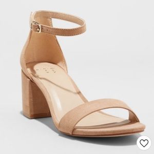 A New Day Michaela Mid Block Heel Sandal Pumps